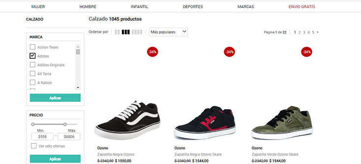 diseño pagina web e-commerce